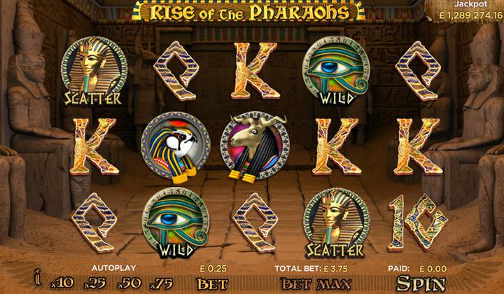 Rise of the Pharaohs Jackpot Demo Image
