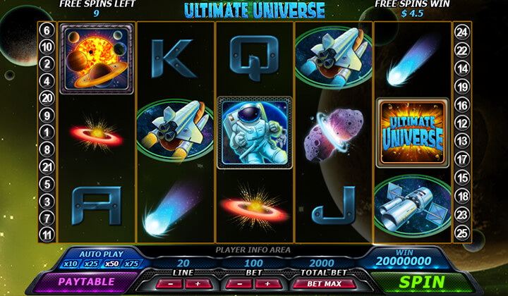 Ultimate Universe Jackpot Demo Image
